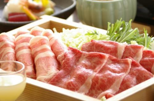 山形牛&米澤豚をしゃぶしゃぶで食べ比べ♪【個室会食処・蔵膳】